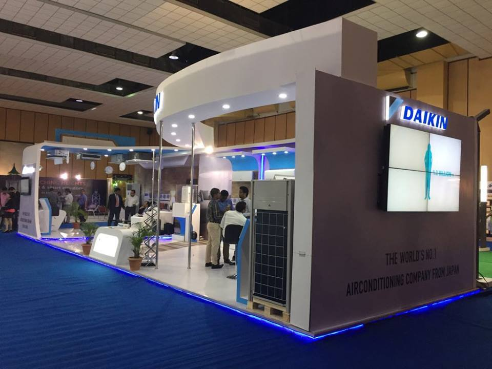 Exhibition Stall Pictures : Daikin exhibition stall thewednesday